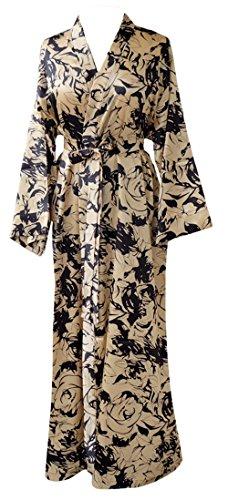 JANA JIRA Women's Long Ankle Length Robe for Women Plus Size Nightgowns Champagne Gold, XXL