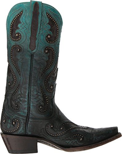 Lucchese Mujeres Pearl Hecho A Mano Ombre Gemma Cowgirl Bota Snip Toe - M5115 Aqua