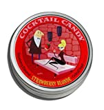 Twang Cocktail Candy Strawberry Blonde, Strawberry Flavored Cocktail Rimming Sugar 4 Oz Tin (Pack of 3)