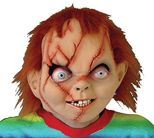 Scary Doll Halloween Costumes (Chucky Seed Of Evil Bad Boy Doll Scary Latex Adult Halloween Costume Mask)