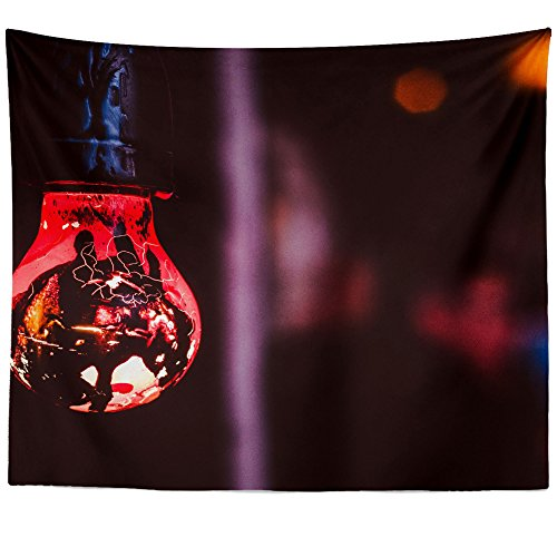 - Westlake Art - Bulb Red - Wall Hanging Tapestry - Picture Photography Artwork Home Decor Living Room - 68x80 Inch (B2D90)