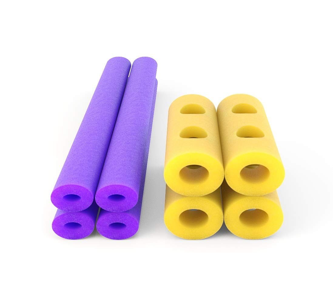 H2Ohs! Foam Pool Noodles - Build and Connect 8 Pack Swimming Toy Kit - Create Your Own Floating Raft or Watercraft - Instructions Included - Mini-H2Ohs! Connex Water Float Kit by Floateez