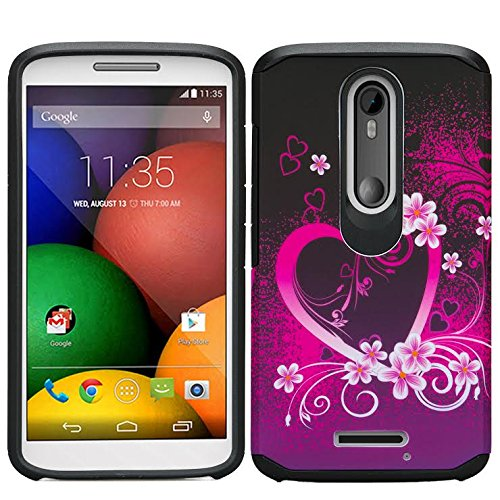 Motorola DROID TURBO 2 Case, [Shock Absorption/Impact Resistant] Hybrid Dual Layer
