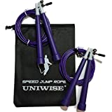 Jump Rope – 100% Lifetime Gurantee – Premium Adjustable Crossfit Speed Rope – Best for Double Unders – WOD – Boxing – Fitness – Includes Carry Case & Bonus Rope for Your Workout Partner (Purple) Review