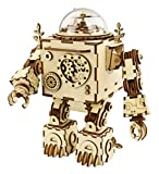 DIY Build Your Own Wooden Puzzle Music Box with Hand Crank Kit (Orpheus Robot)- Plays tune 'Can't Take My Eyes Off of You'
