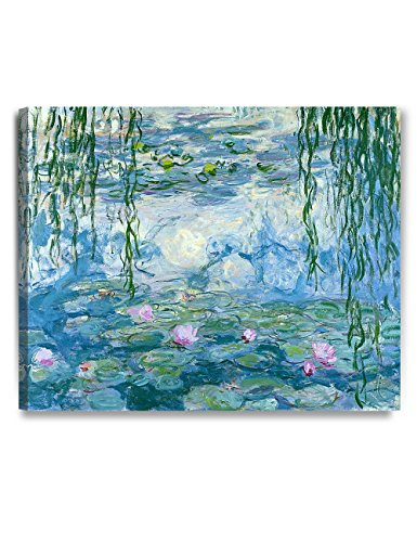 DecorArts - Water Lilies 1916-1919, Claude Monet Art Reproduction. Giclee Canvas Prints Wall Art for Home Decor 30x24