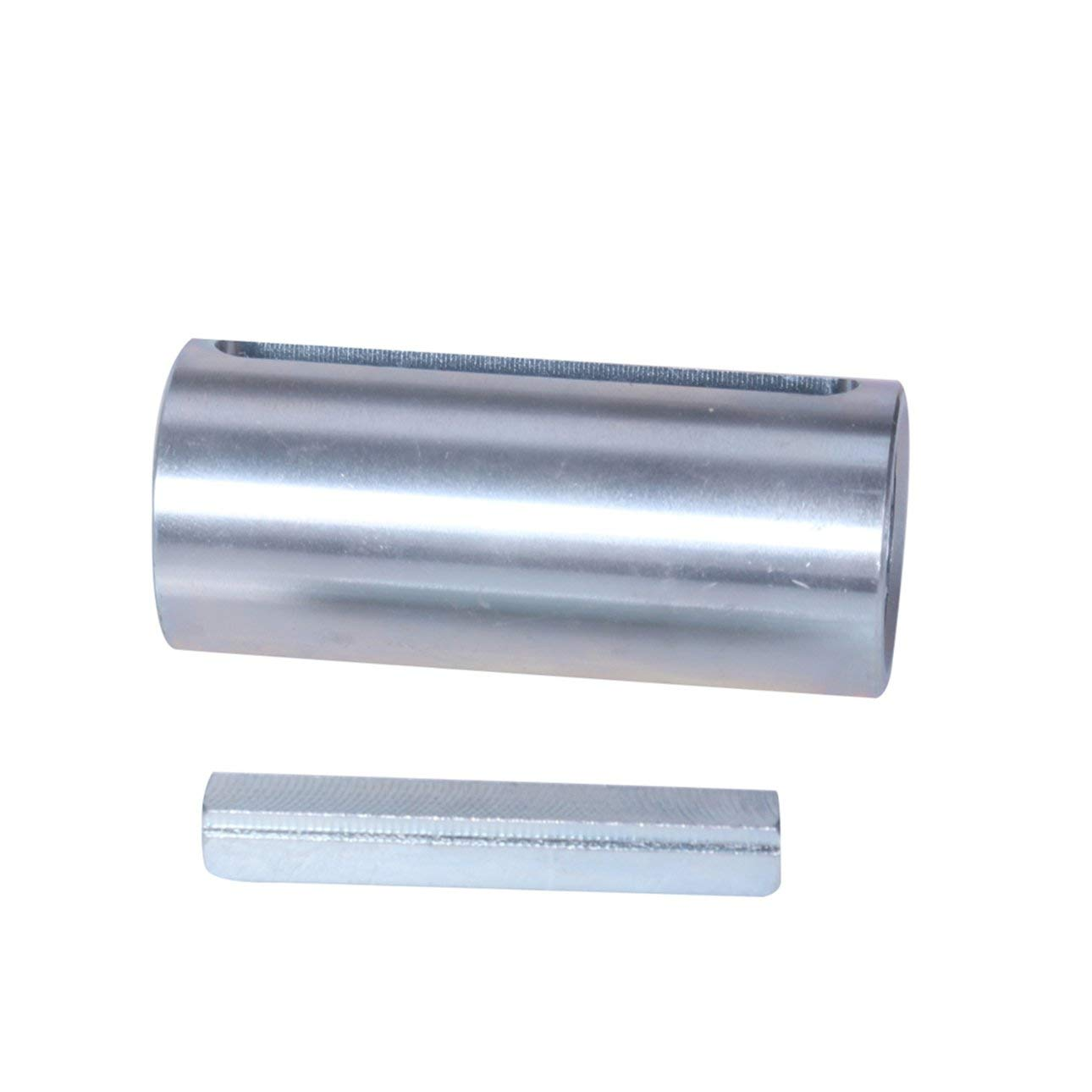 Silver 3//4 to 1 Inch w//Step Key Engine Pulley Crank Shaft Sleeve Adapter ADAP-1017 Essential Accessories