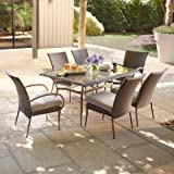 Romatlink Cushioned 7 PCS Outdoor Wicker Patio Garden Lawn Sofa Furniture Conversation Set