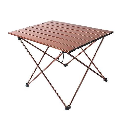 NOBLJX Mesas De Camping Plegables Portátiles, Mesa Enrollable De ...