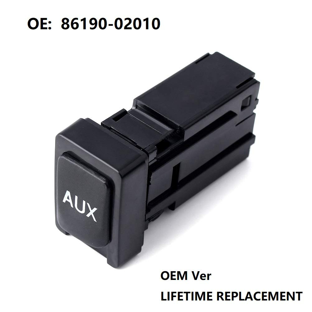 Aux Adapter for Toyota Corolla Tundra Tacoma Aux Auxiliary Input Jack 86190-02010