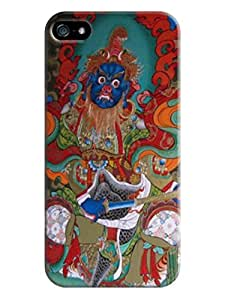 LarryToliver First Design Funny Beautiful Printed Durable Plastic Tibetan book iphone 5/5s Case #1