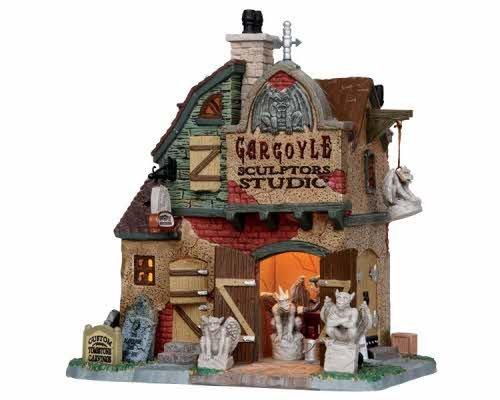 Lemax Spooky Town Gargoyle Sculptors Studio # 15198