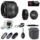 nikon 35 mm kit - Nikon 35mm f/1.8G AF-S DX Lens for Nikon Digital SLR Cameras + 6PC Bundle Deluxe Accessory Kit
