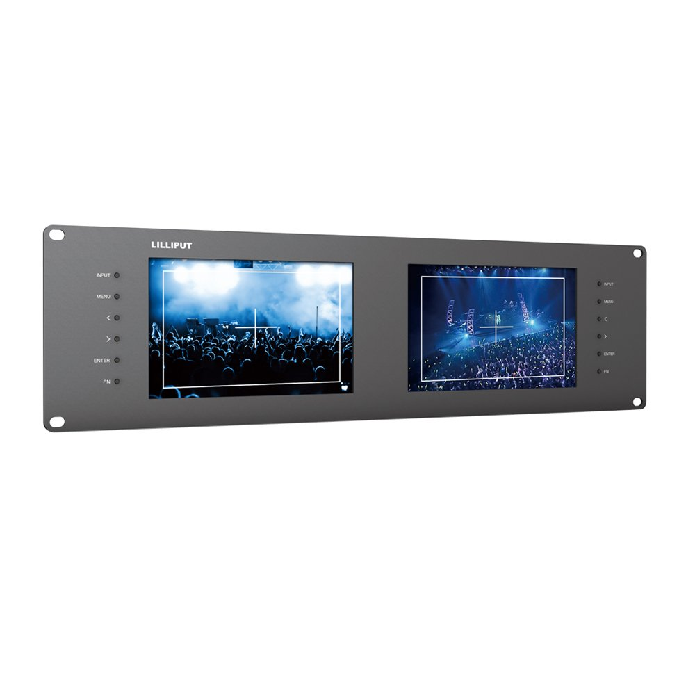 Lilliput Rm-7028s Dual 7'' 3ru Rack Monitors with Hdmi Ypbpr Tally Out 3g SDI