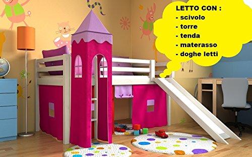Letti A Castello Con Scivolo.Letto Per Bambini Con Scivolo Cameratta Bambino Letto Letto A Castello Materasso