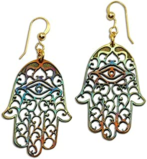 product image for Hamsa Iridescent Earrings on French Hooks
