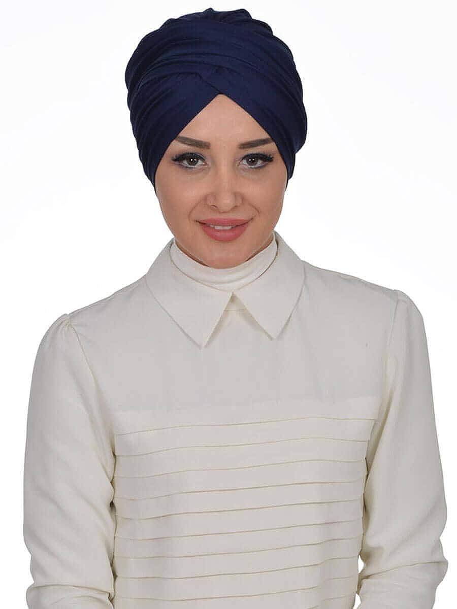Fiona - Baumwoll Turban Muslim Chemo Cancer Krebs Kopfkappe Cap