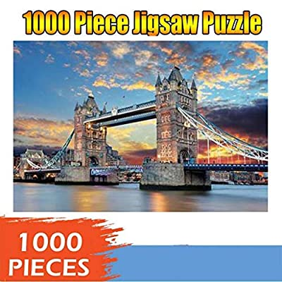 Jigsaw Puzzles Pack of 4-1000 Pieces Landscape Puzzle Kids Adult Intellectual Game Learning Education Toys Recyclable Materials 29.53 x 19.69inch: Toys & Games