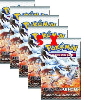 Pokemon Cards - BLACK & WHITE - Booster Packs (5