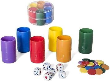 Gerimport Fichas Parchis para 6 Jugadores Plastico Diametro 8cm: Amazon.es: Juguetes y juegos