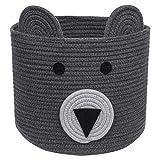 CherryNow Bear Basket, Cotton Rope Basket, Woven