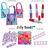 JellyBeadZ Brand - 6 Piece ''Swag Bag'' - 6 Girl's Spa Party Night -Includes 6 Individual packets - enough for 2 Quarts of Soaking BeadZ - Have a Huge Spa Party For All Your Girls