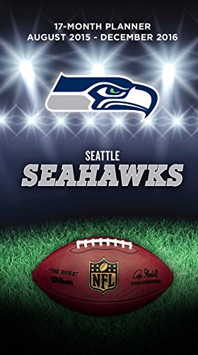 "Turner Seattle Seahawks 17 Month Planner, August 2015 - December 2016, 3.5 x 5"" (8890559)"
