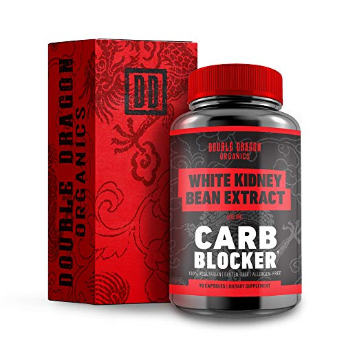 100% Pure White Kidney Bean Extract - Carb Blocker :: 90 Vegan Capsules :: 600 Milligram :: Double Dragon -