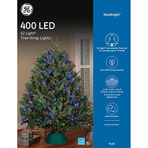 Amazoncom Ge 400 Led Ez Light Tree Wrap Lights Multicolored