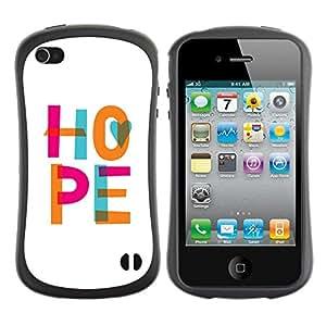 LASTONE PHONE CASE / Suave Silicona Caso Carcasa de Caucho Funda para Apple Iphone 4 / 4S / White Pink Teal Orange Text God