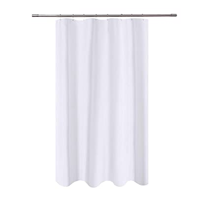 NY HOME Fabric Shower Curtain Liner White