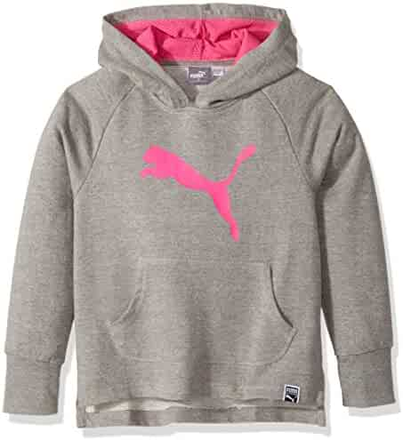 best website bb52d 685bd PUMA Girls  Fleece No. 1 Logo Hoodie