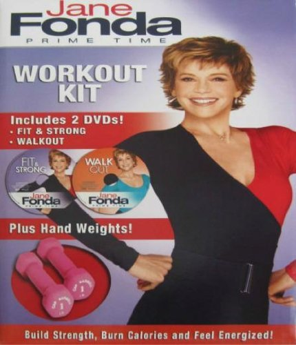Jane Fonda Prime Time Workout DVD Hand Weights Kit by Prime Time
