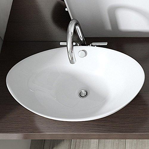 BTH: 58x38x19 cm Design Aufsatzwaschbecken Brüssel818, aus Keramik, Waschbecken, Waschtisch