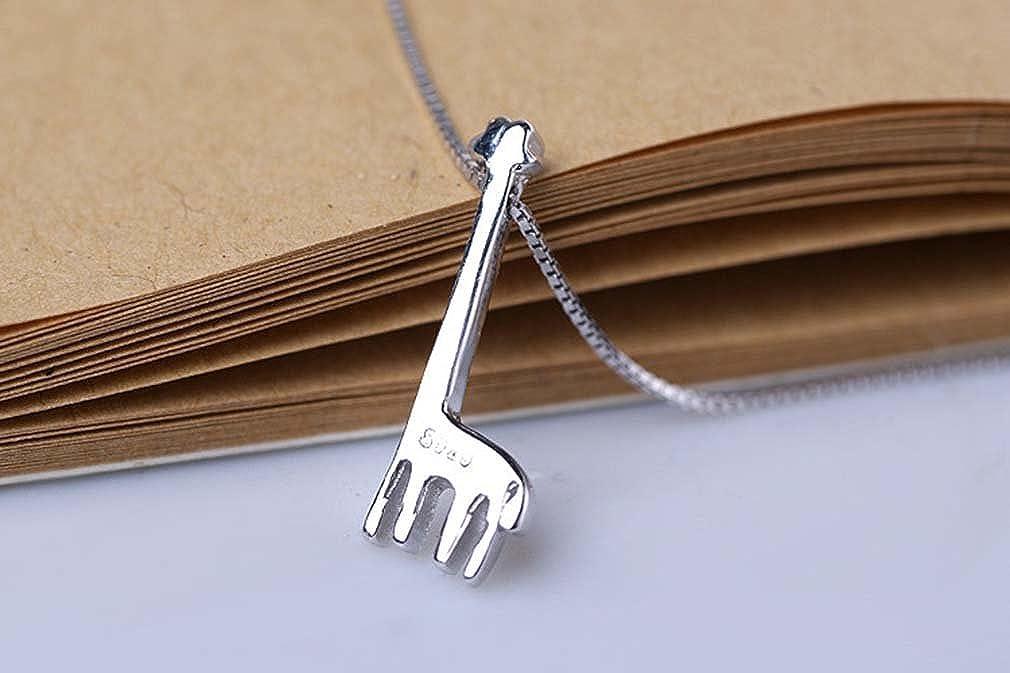 Youngate Cute Design 925 Sterling Silver Giraffe Pendant Necklace For Love