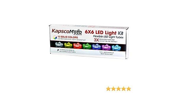 automotive kapscomoto motorcycle 7 color led accent light kit remote for suzuki  burgman 400 650