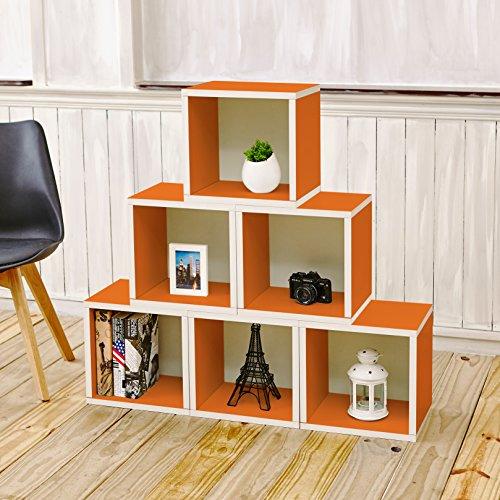 Way Basics Eco Stackable Modular Storage Cubes (Set Of 6
