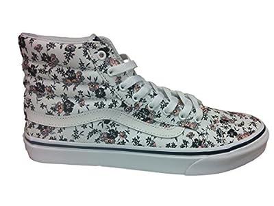 Vans Women's Sayings SK8-Hi Slim Skate Shoes (Sayings) True White (9.5 B(M) US Women/8 D(M) US Men, (J&S) Ditsy Bloom)