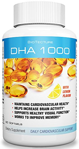 DHA Softgels with Lemon Flavor Dietary Supplement. Maintains Cardiovascular Health, helps Increase Brain Activity, Works to Improve Memory and Supports Visual Function! Worth a Try!
