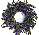 Purple and Green Berry Fall Wreath Everyday Wreath Indoor Decorative Accessory
