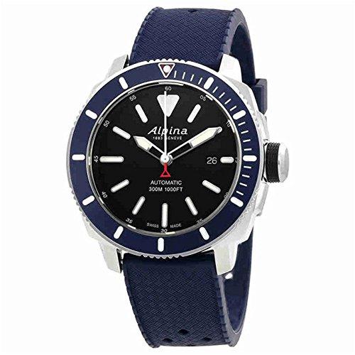 Alpina Seastrong Diver 300 Blue Dial Rubber Strap Men's Watch AL525LBN4V6