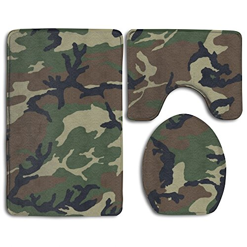 HOMESTORES Army Camouflage 3D Print Skidproof Toilet Seat U Shape Cover Bath Mat Lid Cover For Bathroom from HOMESTORES