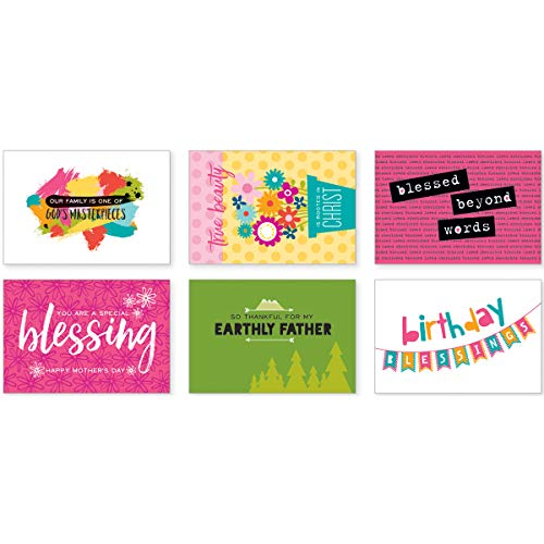 Bella BLVD Illustrated Faith Postcards Family Blessings by Mail (2 Pack) ()
