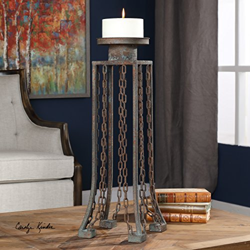 Danu Aged Iron Candleholder by Vhomes Lights