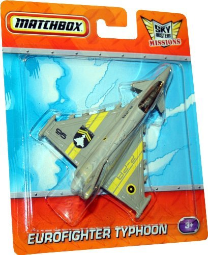 EUROFIGHTER TYPHOON * GRAY 2-28 * Die-Cast MATCHBOX Sky Busters Missions Series