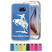 Personalized Case/Cover for Galaxy S6 Edge - Bronco Rider - Engraved for FREE