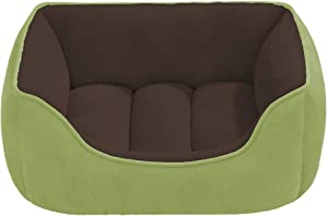 Beatrice Home Fashions SUEPTB24CHT Suede Reversible Cuddler Bed for Dogs/Cats/Pets