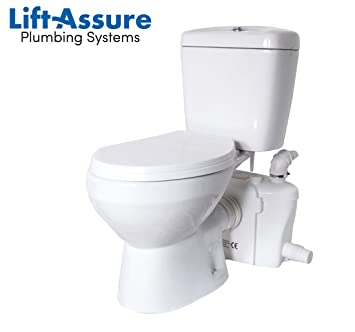 Lift Assure American Round Macerating Pump And Toilet Kit
