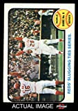 1973 Topps # 208 1972 World Series - Game #6 - Reds' Slugging Ties Series Johnny Bench / Denis Menke / Bobby Tolan Oakland / Cincinnati Athletics / Reds (Baseball Card) Dean's Cards 3 - VG Athletics / Reds