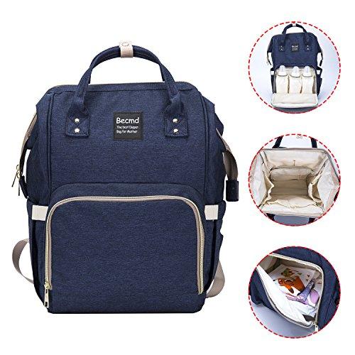 Baby Boy Girl Diaper Nappy Mother Bag Portable Handbag (Blue) - 7